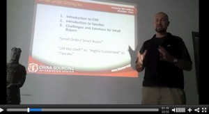 Sourcing in China - Small buyer strategies video
