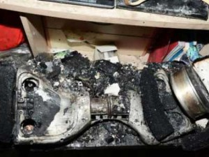Hoverboard Battery Accident